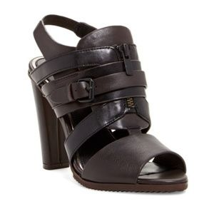 Elie Tahari Hunter Strappy Zip Block Heel Sandal 8